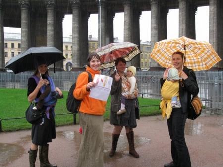 Слингомамы под дождем, флешмоб 2009 в СПб