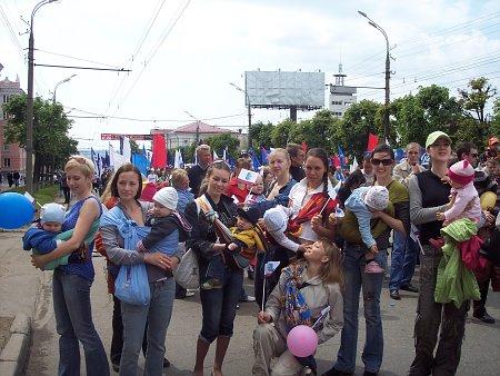 Парад в Ижевске 2008, слингомамы