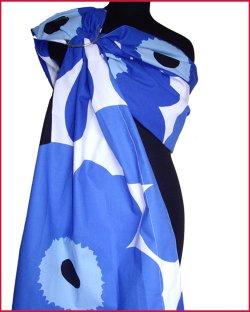 Слинг с кольцами Велина, Unikko — синие маки