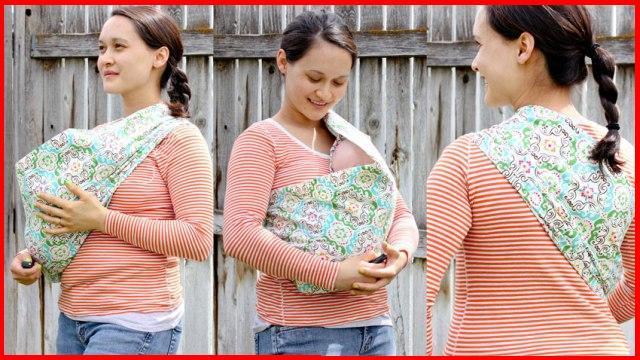 Осторожно! Неправильное горизонтальное положение в слинге-кармане: головка ребенка загнута к груди!