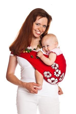 Слинг-карман на бедре и на спине: верх спинки ребенка должен быть хорошо притянут