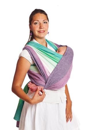 «Колыбелька» в слинге-шарфе: с рождения