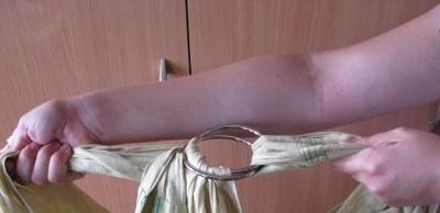 Проверяем прочность колец и ткани