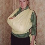 «Крест над карманом для новорожденных» — инструкция к слингу-шарфу
