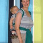 «Тибетский крест на спине» — инструкция к слингу-шарфу