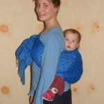 Положение на спине — инструкция к ребозо (короткому слингу-шарфу)