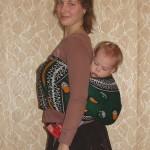 Положение на спине — инструкция к канге (африканскому платку)