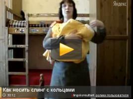 Инструкция к слингу с кольцами, видео