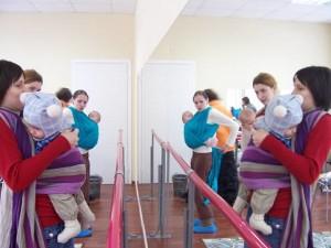 Слинговстреча и мастер-класс по слингам в Мире детства, СПб 2010