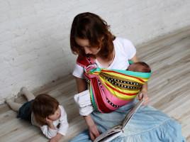 Слинг с кольцами для новорожденного, ТМ Vmeste