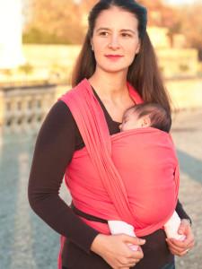 Трикотажный слинг-шарф для новорожденного, ТМ Didymos