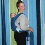 Положение на спине — инструкция к май-слингу