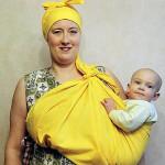 Как на Руси носили детей — ношение в подоле (переднике)