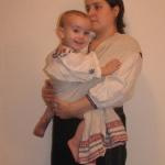 Как носили детей в Беларуси — ношение в рушнике