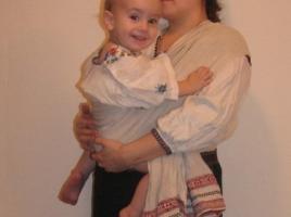 Ношение ребенка в рушнике