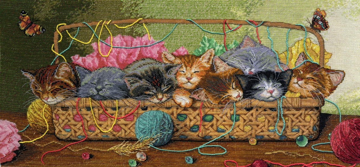 Вышивка крестом котята наборы